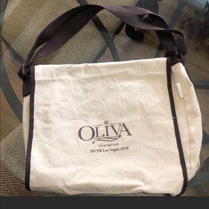 Linen messenger bag- branded Oliva cigars